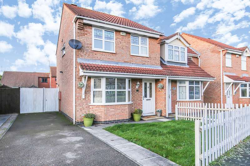 3 Bedrooms Semi Detached House for sale in Windrush Drive, Hinckley, Leicestershire, LE10