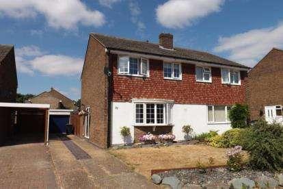 3 Bedrooms Semi Detached House for sale in Swansholme Gardens, Sandy, Bedfordshire