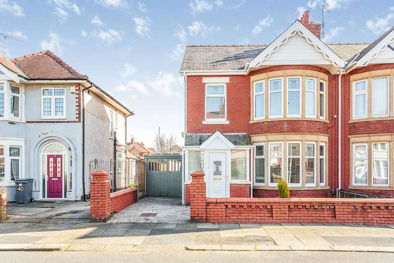 3 Bedrooms Semi Detached House for sale in Calder Road, Blackpool, Lancashire, FY2