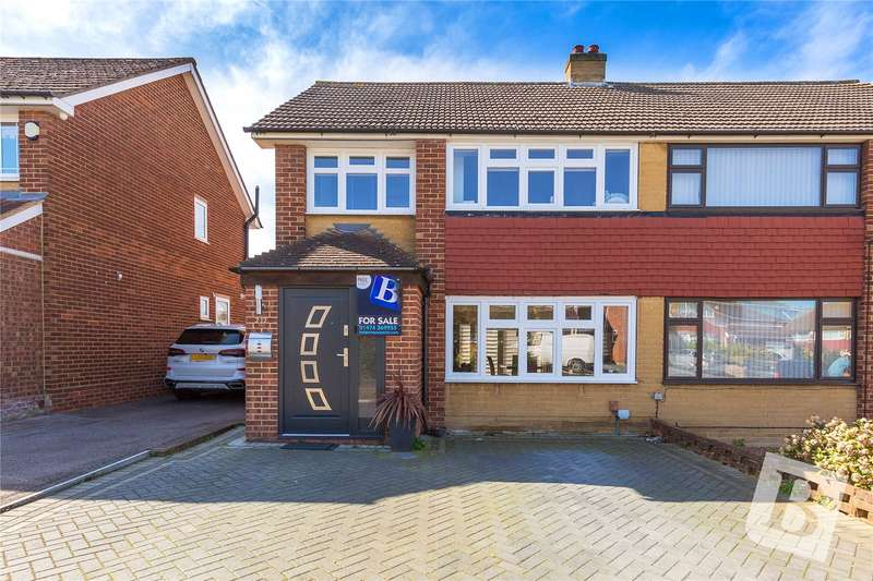 3 Bedrooms Semi Detached House for sale in Kelso Drive, Gravesend, Kent, DA12