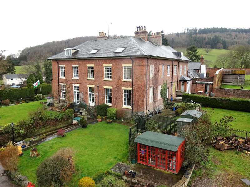 5 Bedrooms Semi Detached House for sale in Aberhafesp Hall, Aberhafesp, Newtown, Powys, SY16 3HJ