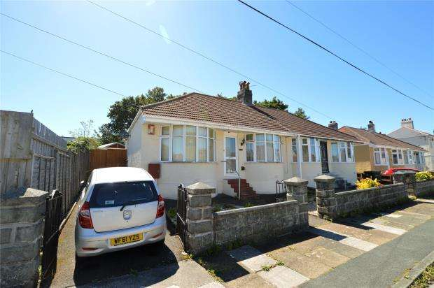 3 Bedrooms Semi Detached Bungalow for sale in Dovedale Road, Plymouth, Devon