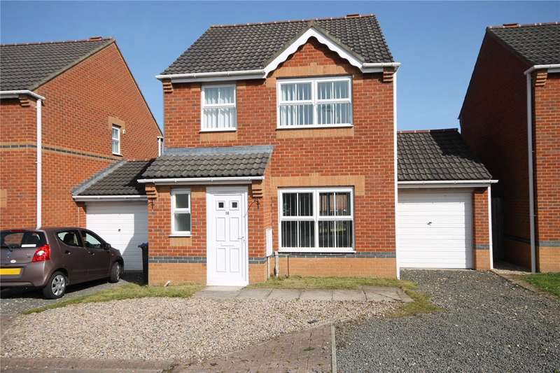 3 Bedrooms Detached House for sale in Steading Court, Consett, County Durham, DH8