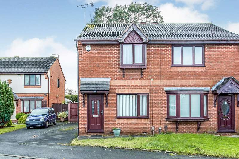 2 Bedrooms Semi Detached House for sale in Longfellow Close, Wigan, Greater Manchester, WN3