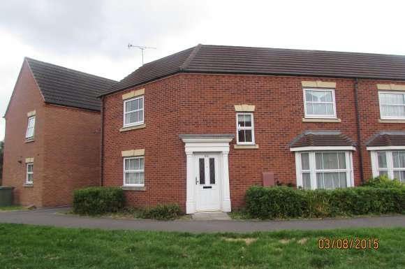 3 Bedrooms Semi Detached House for rent in Clarkson Close, Nuneaton