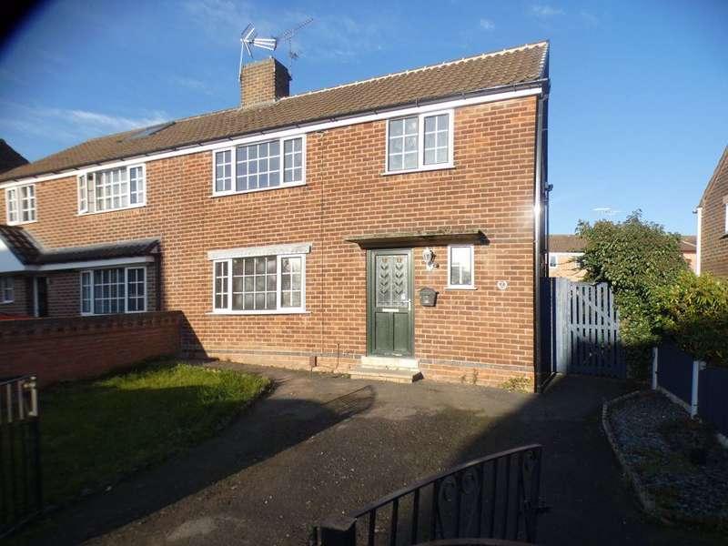 3 Bedrooms Semi Detached House for rent in Wirksworth Road, Kirk Hallam. DE7 4GS