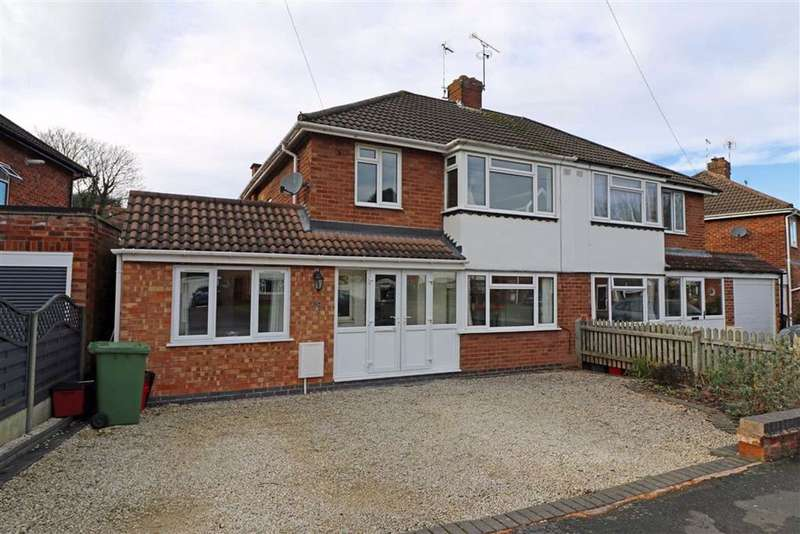 4 Bedrooms Semi Detached House for sale in Cliffe Way, Warwick, CV34