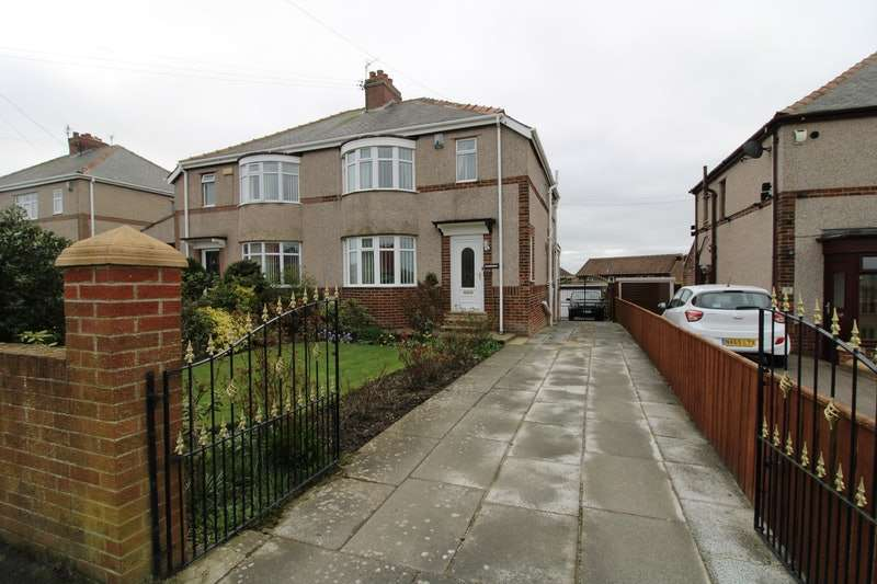 3 Bedrooms Semi Detached House for sale in Station Road South, Murton, Tyne and Wear, SR7
