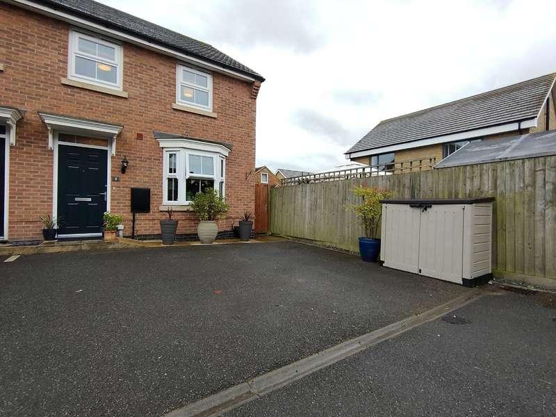 3 Bedrooms End Of Terrace House for sale in Porritt Close, East Leake, Loughborough