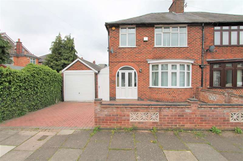 3 Bedrooms Semi Detached House for sale in Broadway Road, Evington, Leicester LE5