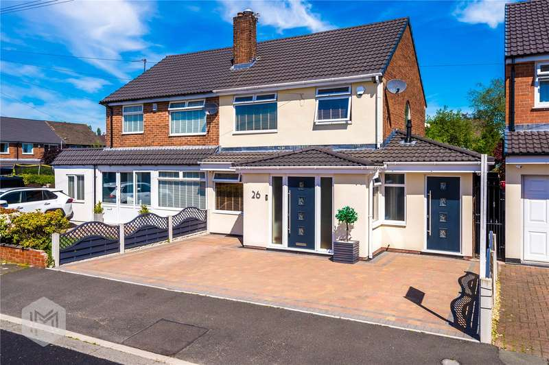 3 Bedrooms Semi Detached House for sale in Woodbank Drive, Brandlesholme, Bury, BL8