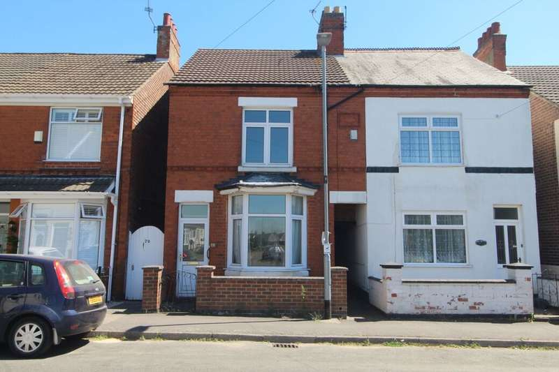 3 Bedrooms Semi Detached House for sale in Crescent Road, Hugglescote, Coalville, LE67
