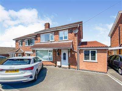 3 Bedrooms Semi Detached House for sale in Faire Road, Glenfield, Leicester