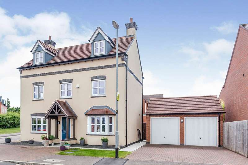 5 Bedrooms Detached House for sale in Olympic Way, Hinckley, Leicestershire, LE10