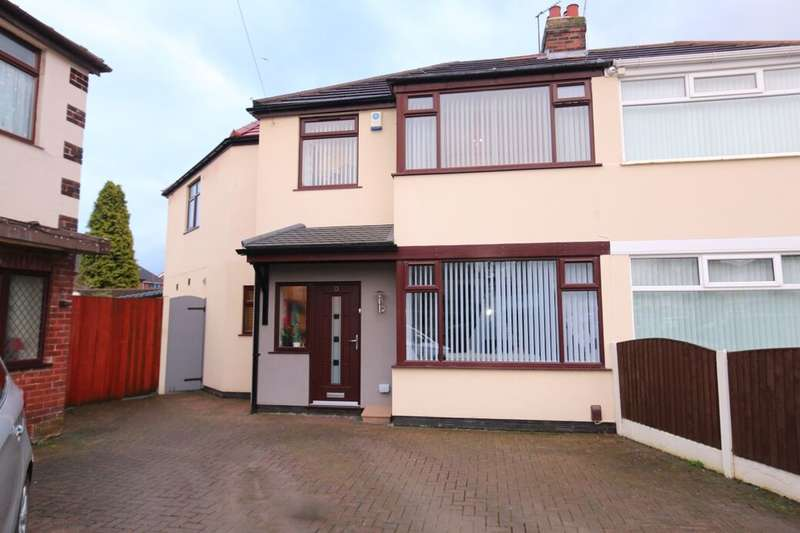4 Bedrooms Semi Detached House for sale in Kendon Grove, Denton, Manchester, M34