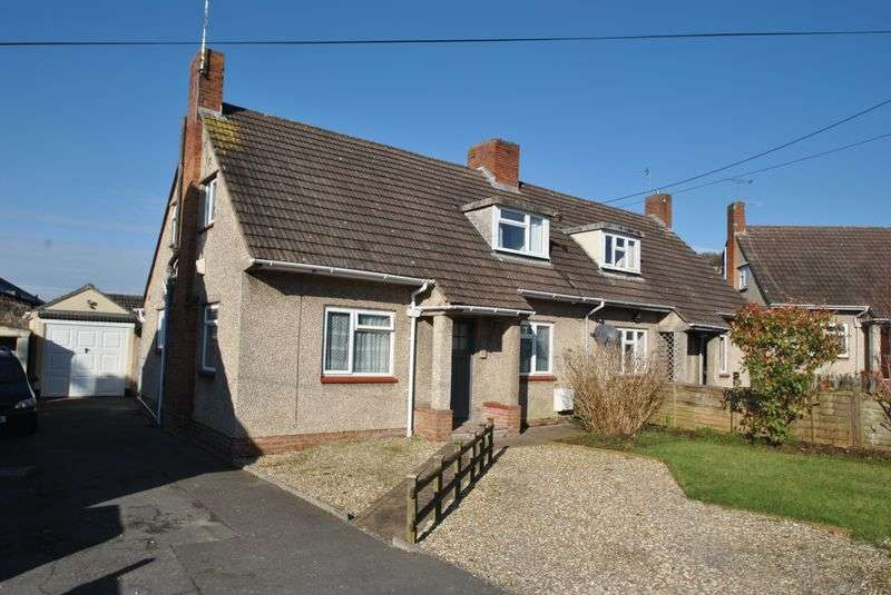 3 Bedrooms Semi Detached House for sale in 3 bedroom chalet style home in cul de sac location in older part of Cheddar