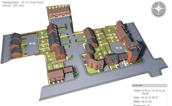 1 Bedroom Apartment Flat for sale in Tannery Court, Walsall