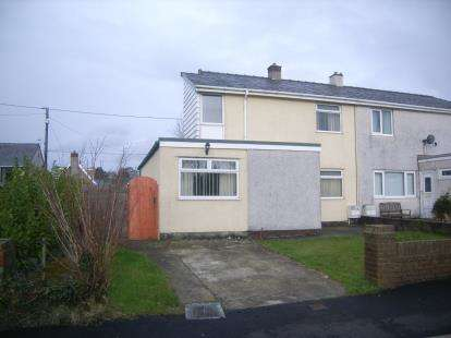 3 Bedrooms Semi Detached House for sale in Eryri Estate, Bethel, Caernarfon, Gwynedd, LL55
