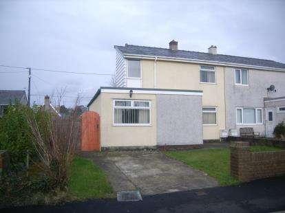 3 Bedrooms Semi Detached House for sale in Eryri Estate, Bethel, Caernarfon, Gwynedd, LL55