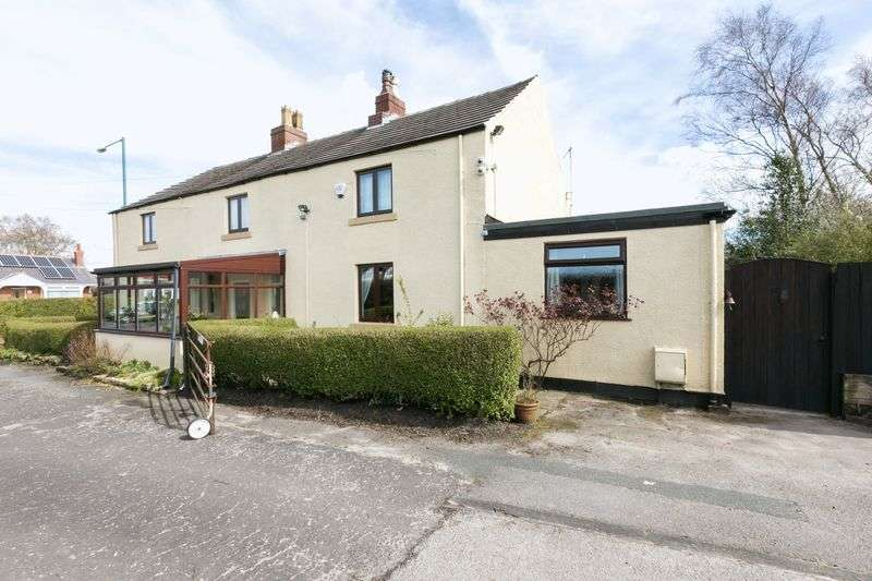 3 Bedrooms Semi Detached House for sale in Blaguegate Cottages, Blaguegate Lane, Lathom, WN8 8TX