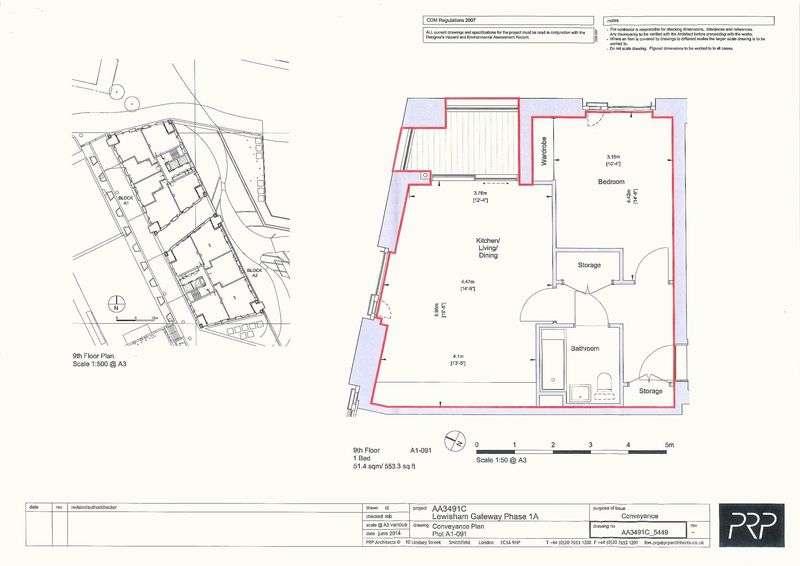 1 Bedroom Flat for sale in Block A1, Lewisham Gateway Development, Lewisham