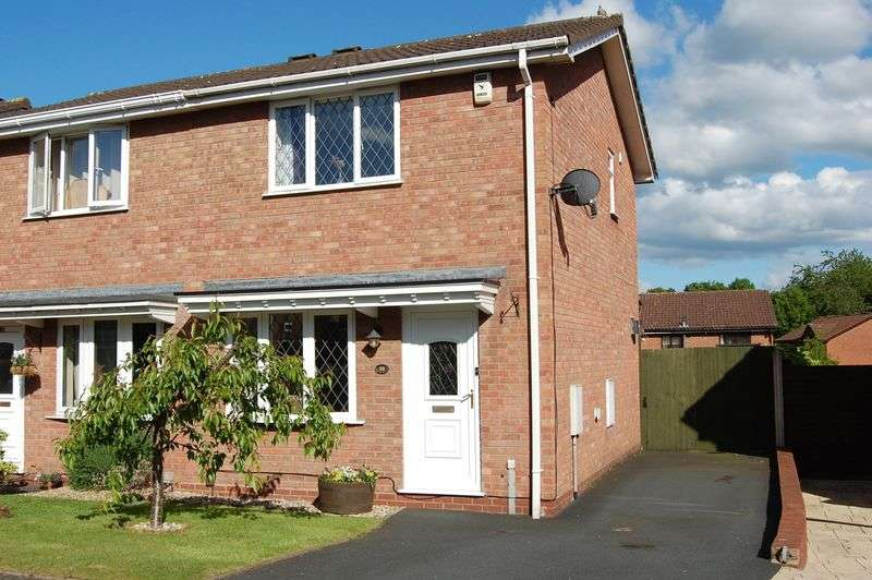 2 Bedrooms Semi Detached House for sale in Viscount Avenue, Aqueduct, Telford, Shropshire.