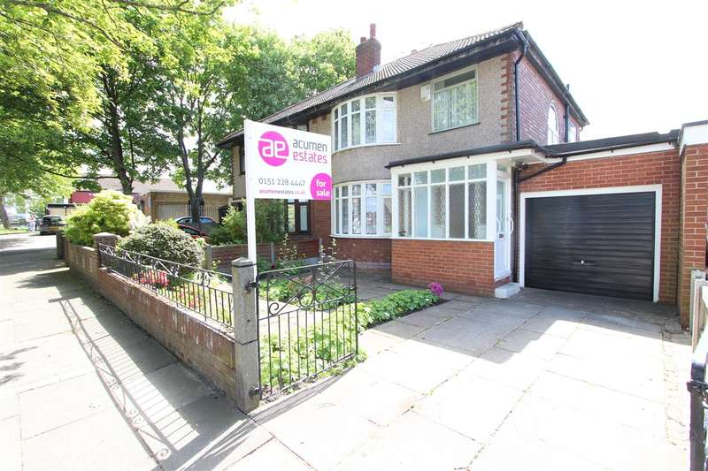 3 Bedrooms Semi Detached House for sale in Leyfield Road, West Derby, Liverpool