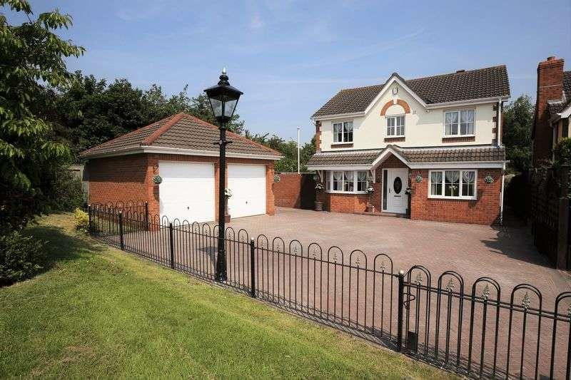 4 Bedrooms Detached House for sale in Lime Avenue, Measham, Derbyshire DE12 7NG