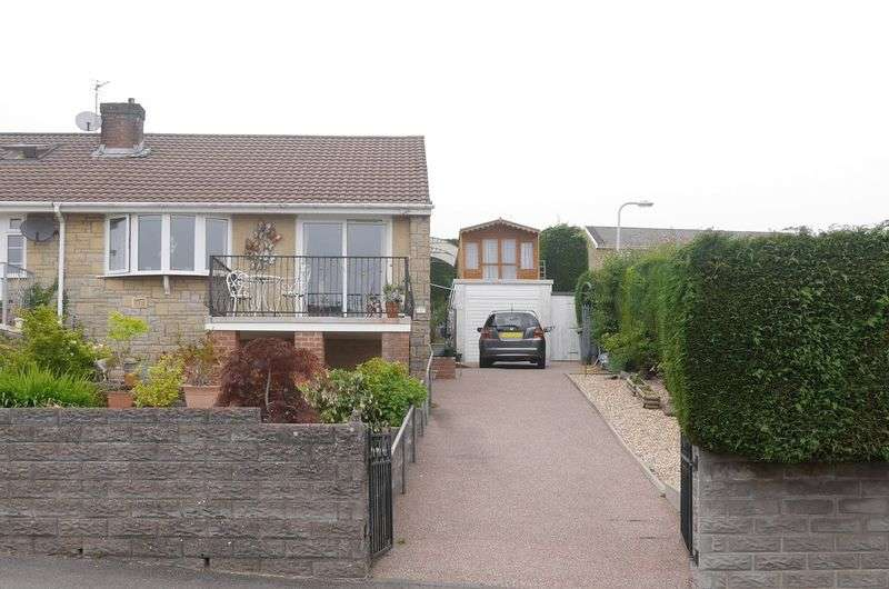 2 Bedrooms Semi Detached Bungalow for sale in Tredegar Close, LLAHARAN, CF72 9QU