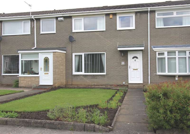 3 Bedrooms Terraced House for sale in Glenluce Drive, Southfield Green, Cramlington