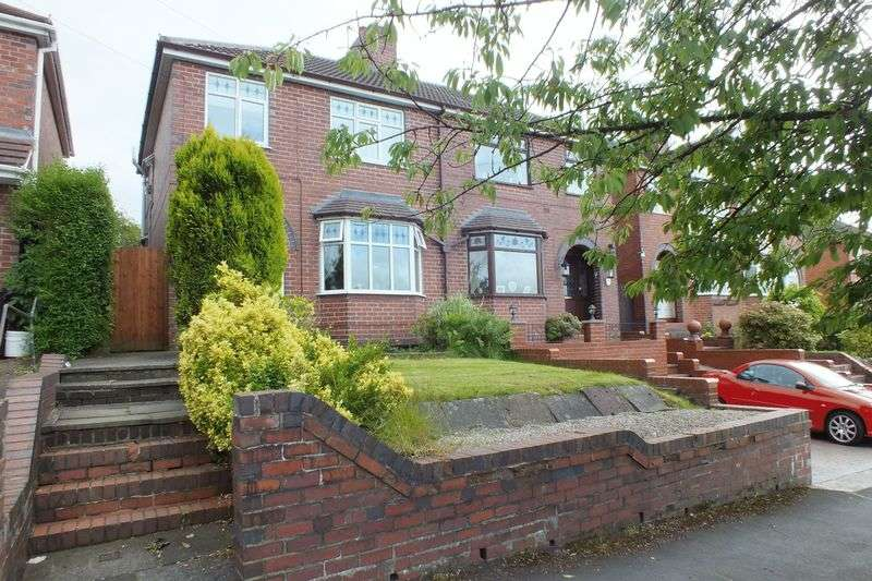 3 Bedrooms Semi Detached House for sale in Pennyfields Road, Newchapel, Stoke-On-Trent