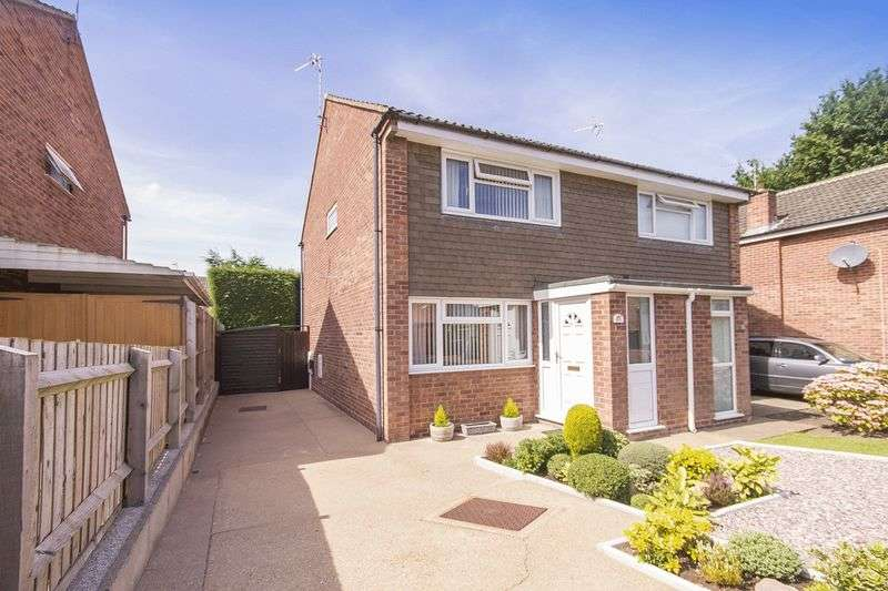 2 Bedrooms Semi Detached House for sale in ALVERTON CLOSE, MICKLEOVER