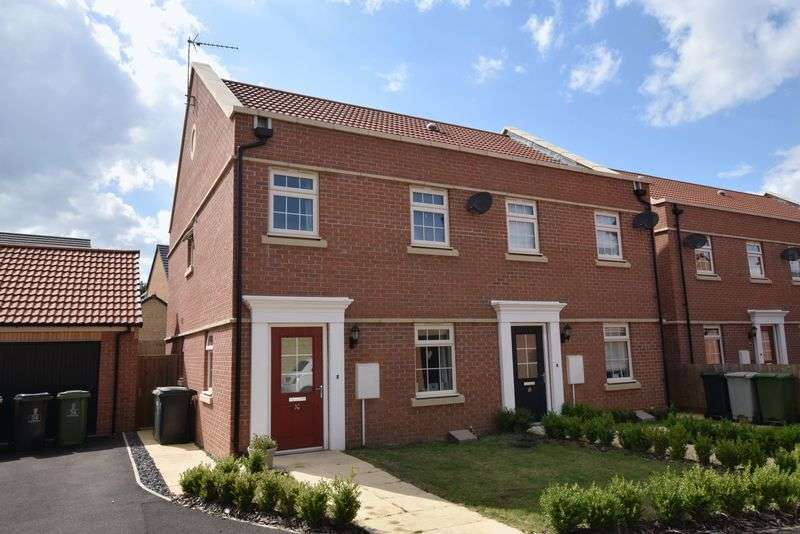 3 Bedrooms Semi Detached House for sale in Racecourse Road, Barleythorpe, Oakham