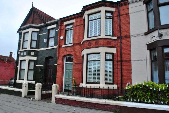 4 Bedrooms Terraced House for sale in Priory Road, Liverpool, Merseyside, L4