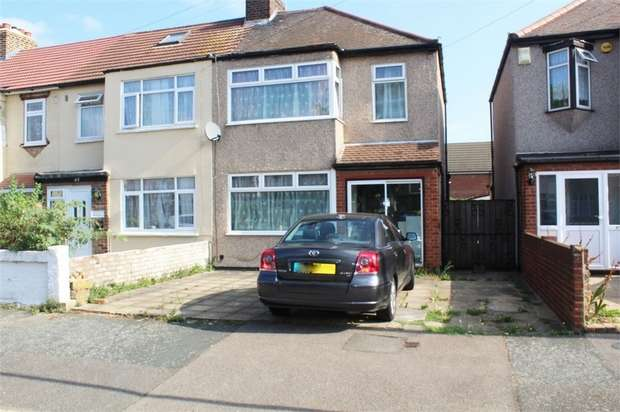 3 Bedrooms End Of Terrace House for sale in Grove Park Road, Rainham, Essex