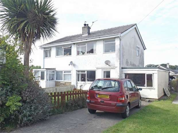 5 Bedrooms Semi Detached House for sale in Treaserth Estate, Llangaffo, Gaerwen, Anglesey