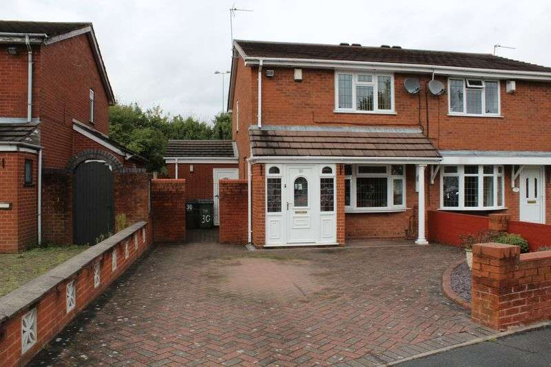 3 Bedrooms Semi Detached House for sale in Hopton Close, Tipton