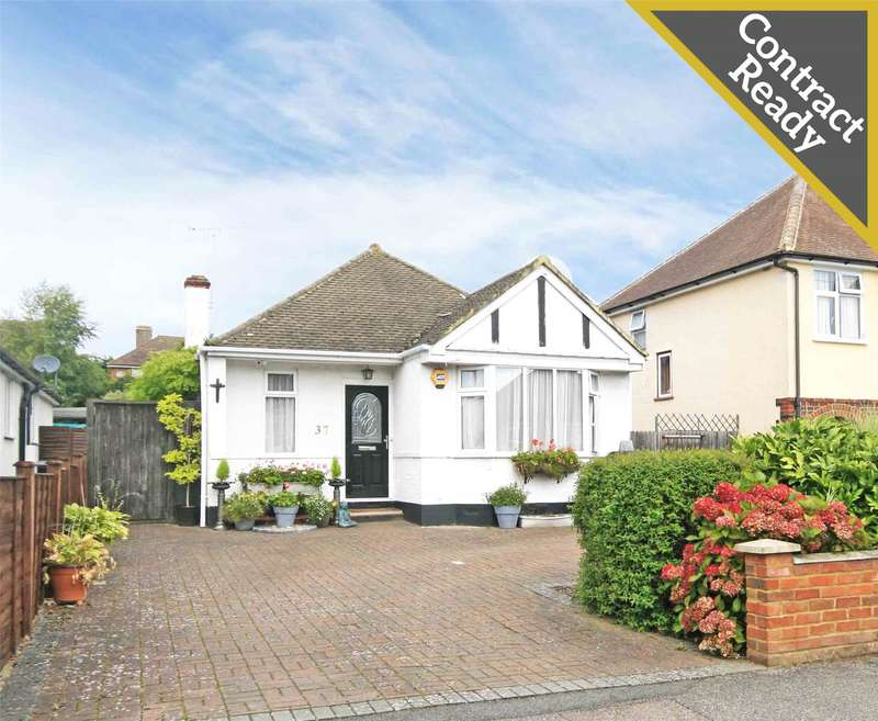3 Bedrooms Detached Bungalow for sale in King Georges Drive, New Haw, Surrey, KT15