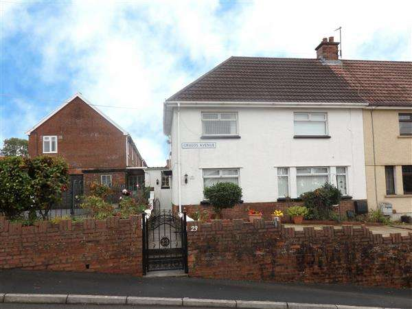 3 Bedrooms Semi Detached House for sale in Grugos Avenue, PONTYBEREM, Llanelli