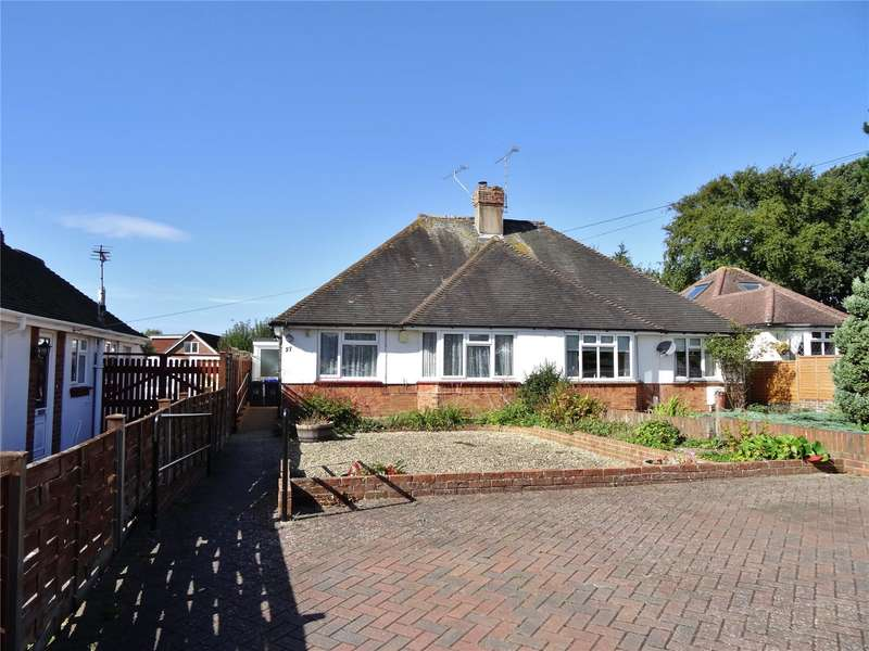 2 Bedrooms Semi Detached Bungalow for sale in Copthorne Hill, Offington, Worthing, BN13
