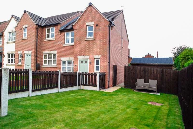 3 Bedrooms Semi Detached House for sale in Phoenix Rise, Pleasley, Mansfield