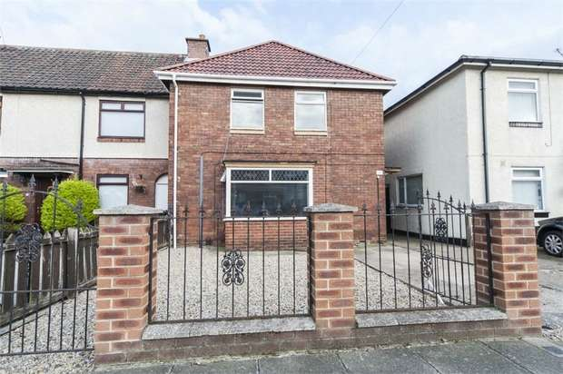 3 Bedrooms End Of Terrace House for sale in Tristram Avenue, Hartlepool, Durham