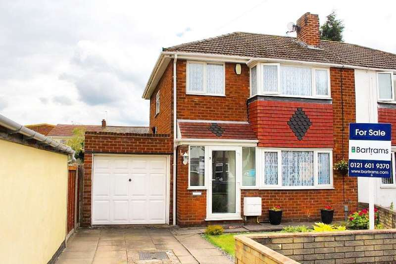 3 Bedrooms Semi Detached House for sale in HALL CRESCENT, WEST BROMWICH, WEST MIDLANDS, B71 1BS
