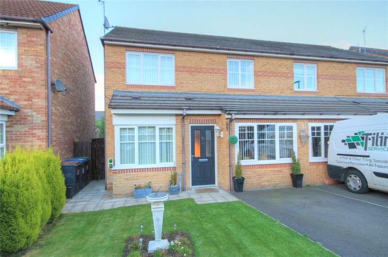 3 Bedrooms Semi Detached House for sale in Cloverhill Court, Stanley, Durham, DH9