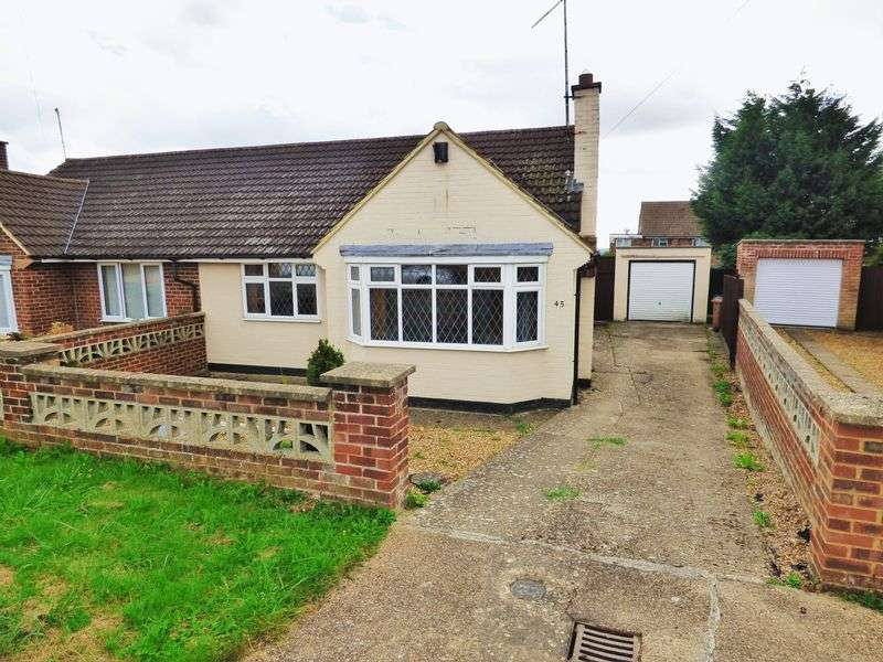 2 Bedrooms Semi Detached Bungalow for sale in Quantock Crescent, Northampton