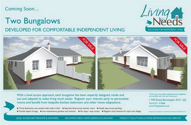 3 Bedrooms Semi Detached Bungalow for sale in South Molton, Devon