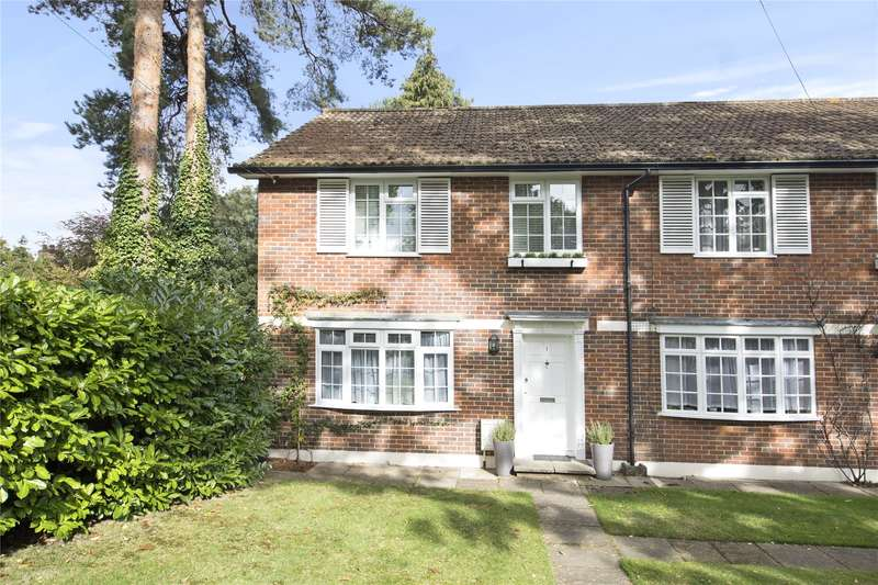 3 Bedrooms End Of Terrace House for sale in Gower Lodge, Gower Road, Weybridge, Surrey, KT13