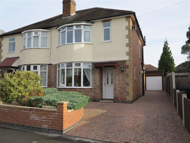3 Bedrooms Semi Detached House for sale in Melton Avenue, Littleover, Derby