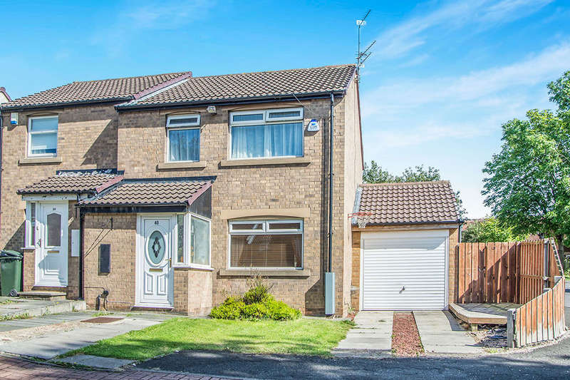 3 Bedrooms Semi Detached House for sale in Harbottle Court, Newcastle Upon Tyne, NE6