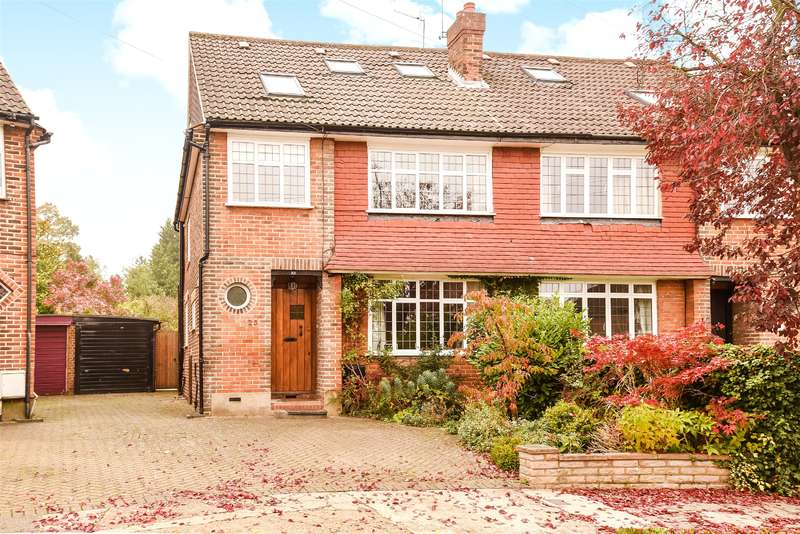 4 Bedrooms Semi Detached House for sale in Anglesmede Crescent, Pinner, Middlesex, HA5